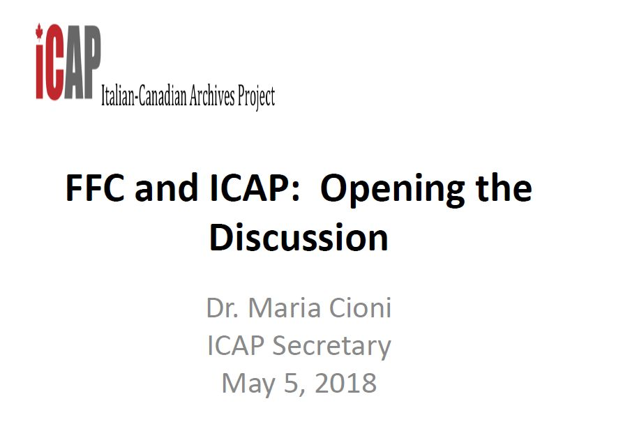 FFC and ICAP: Opening the Discussion